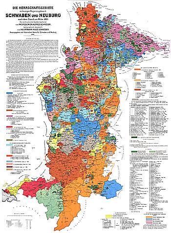 Landkreis Augsburg Karte.Karte Schwaben Und Neuburg 1801
